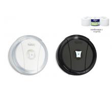 Дозатор за тоалетна хартия на ролка, бял/Черен
