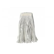 Професионална Бърсалка въже/ моп с лента, 300 гр на конци - бял